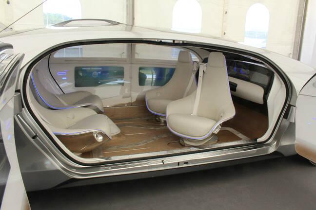 Bosch-Daimler driverless car of the future. Pic: Rebecca Hill