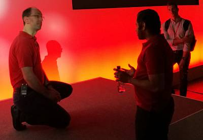 Guthrie takes questions from developers at Red Shirt Day in London