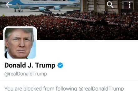 Blocked from following Trump image
