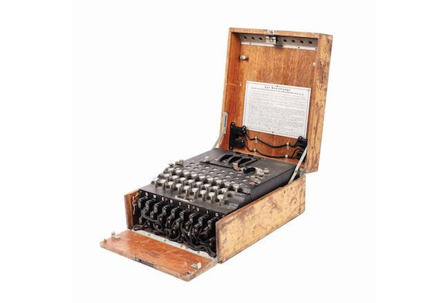 Nazi-era Enigma machine found at flea market sells for £44000