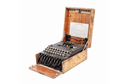 Enigma machine from Bucharest (Artmark)