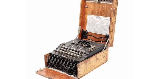 Enigma machine from Bucharest (Artmark)