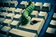Computer worm photo via Shutterstock