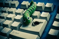 Computer worm photo via Shutterstock