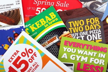 Junk mail on a doormat. Pic via Shutterstick