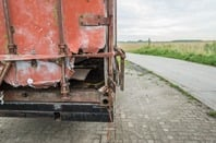 Broken container photo via Shutterstock