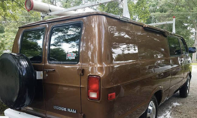 The outside of the van