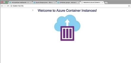 A web application running in an Azure Container Instance