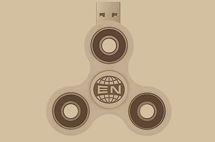 The Arcade Fire's album 'Everything Now' on a USB fidget spinner