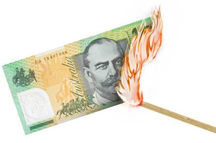 Burning AU$100