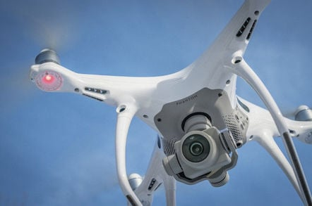 A DJI Phantom 4 with camera detail. Pic: Shutterstock