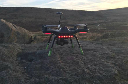A 3D Robotics Solo drone seen in flight. Pic: Ian Hudson