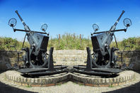 Flak guns on a portion of the old Nazi German Atlantic Wall defence network. Pic: Shutterstock
