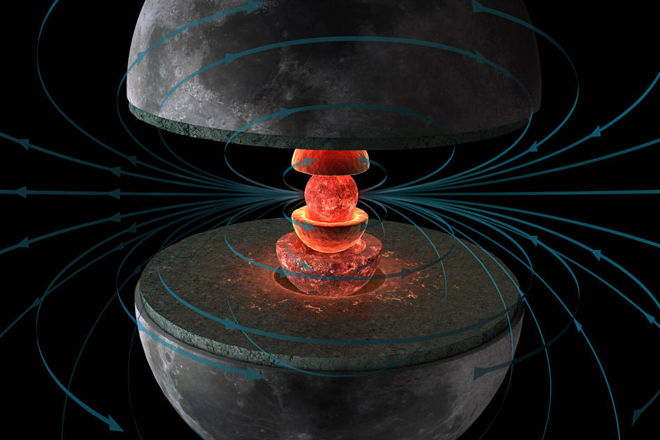 Moon's magnetic field lasted longer than thought
