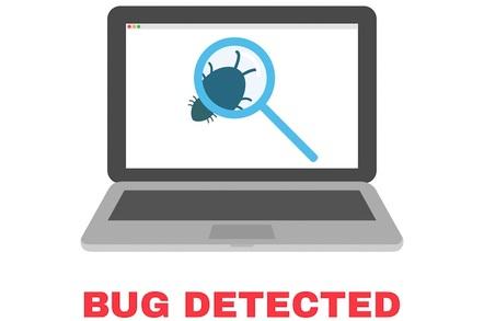 Bug detected dialog