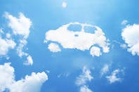 Car made of clouds