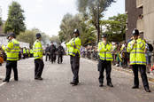Police officers at Notting Hill Carnival