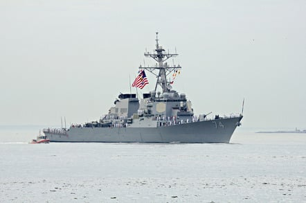 The USS McFaul, an Arleigh Burke-class destroyer of the US Navy. Pic: Shutterstock