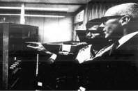 IBM archival photo of Joseph Grimes at the Universidad Nacional Autonoma de Mexico