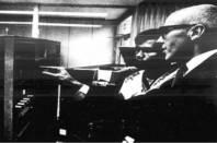 IBM archival photo of Joseph Grimes at the Universidad Nacional Autonoma de Mexico