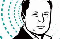 Elon Musk sketch image via Shutterstock