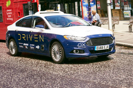 The Driven consortium is testing driverless car tech on a Ford Mondeo
