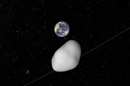 NASA impression of asteroid Florence