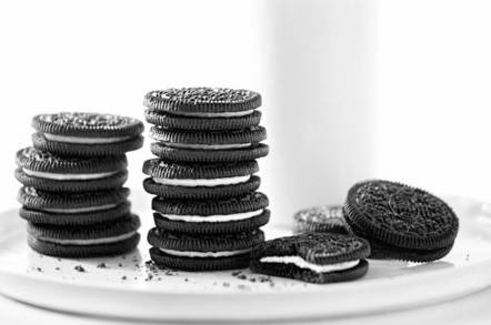 A stack of Oreo cookies