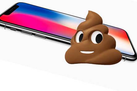 Apple iPhone X poo