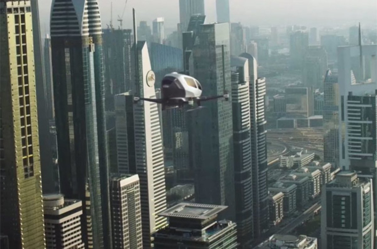 photo image Would you get in a one-man quadcopter air taxi?