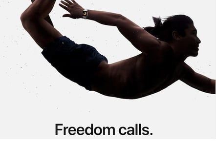 Apple 'freedom' Watch campaign