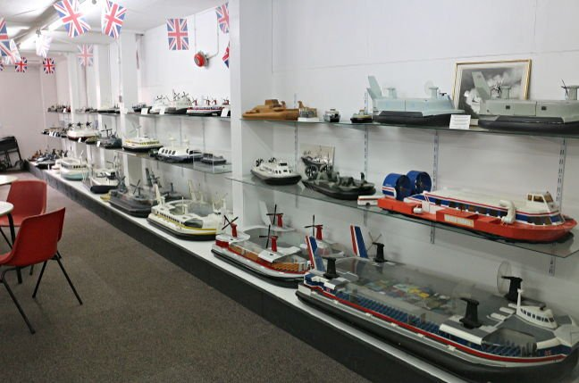 Model hovercraft on display at the Hovercraft Museum, Lee-on-Solent