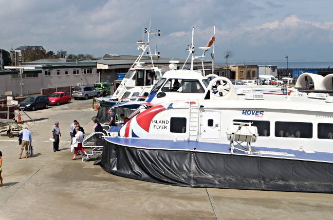 Hovertravel's Ryde base. Pic: Reg reader