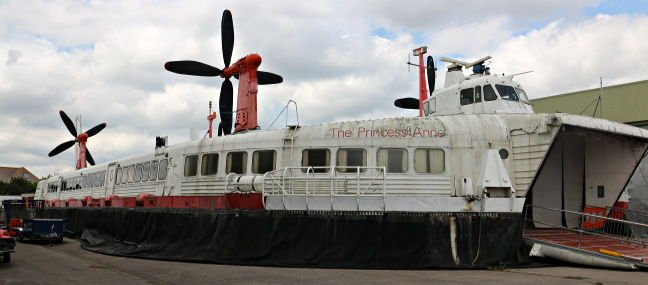 The SR.N4 Princess Anne hovercraft. Outdoor storage does take its toll