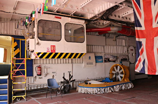 Inside the Princess Anne's vehicle deck