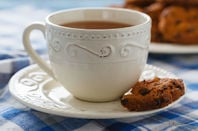 Tea with biscuits.