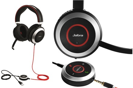 Jabra evolve 80 noise canceling headphones