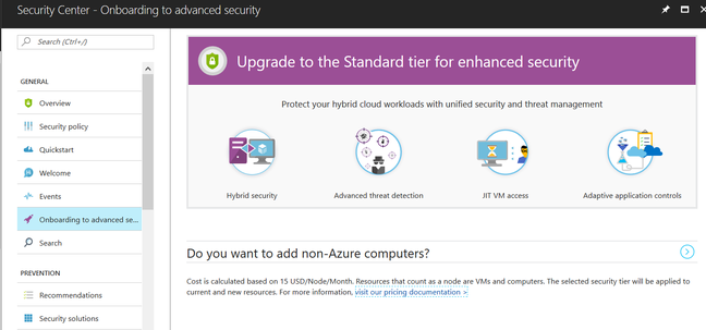 Azure Security Center can now monitor on-premises servers