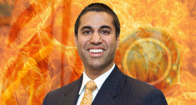NRA gives FCC boss Ajit Pai a gun as reward for killing net neutrality. Yeah, an actual gun