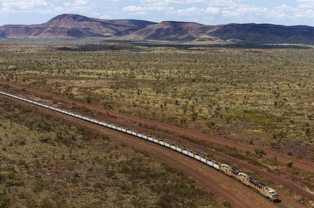 Driverless freight train completes first test run in Australia