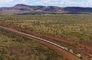 A mine train in Australia's pilbara region