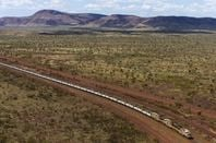 A mine train in Australia's pilbara region