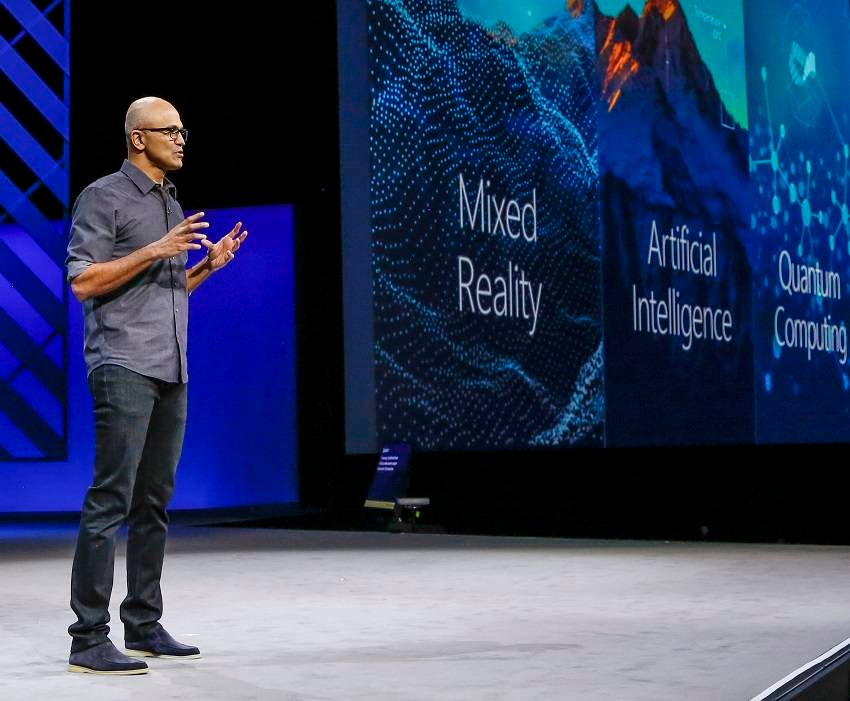 Nadella outlines his vision on AR, quantum computing etc at Microsoft event...