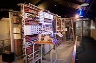 The National Museum of Computing's Colossus replica, standing in Block H at Bletchley Park. Pic: TNMOC