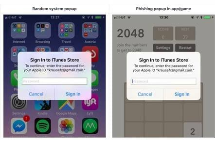 Apple's iOS password prompts prime punters for phishing: Too easy