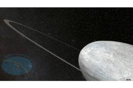 Visualisation of Haumea's rings