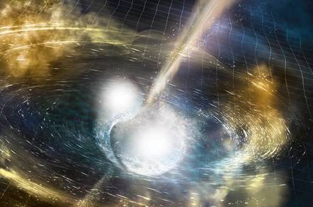 neutron stars shower gold on universe in big bang felt on earth as