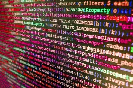 code on-screen
