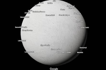 Enceladus in Google Maps