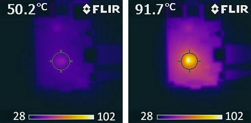 Raspberry Pi infrared heat photo